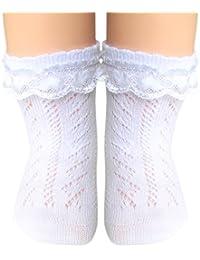 JHosiery Calcetines pointelle bebés niñas con costura plana