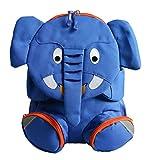 Emartbuy Sac A Dos Mignon pour Enfants, Sac De Voyage, Primaire, Maternelle - Elephant Bleu Roi