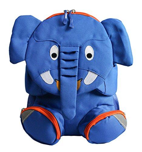 Emartbuy Mochila Elegante para Niños, Bolsa De Viaje para La Escuela, Guardería - Elefante Azul Real