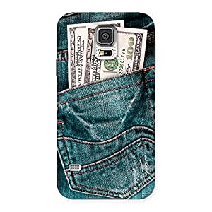 Luxirious Full Dollar Jeans Back Case Cover for Samsung Galaxy S5
