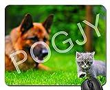 POGJY Gaming Mauspad 7 x 8 Inches, Mousepad, Verbessert Präzision und Geschwindigkeit, Gummiunterseite für Stabilen Halt auf Glatten Oberflächen, Rutschfest, Strapazierfähig Schwarz - Panda Bär image 398