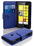 Gr8 value Luxury PU Leather Wallet Cover Flip book Phone Mobile case for Nokia Lumia 520 (plain blue book)