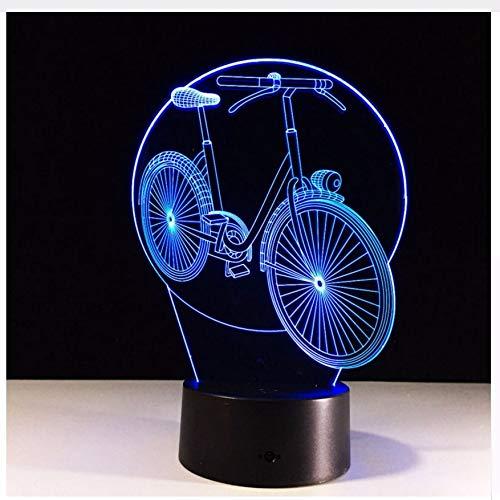 3D Neuheit Coole Fahrrad Modell Tischlampe Led Nachtlichter Schlafzimmer Kleine Schreibtischlampe Bunte Atmosphäre Lampe Licht Box