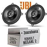 Renault Megane 2 - JBL Stage 502 | 2-Wege | 13cm Koax Lautsprecher - Einbauset