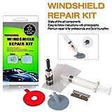 Randalfy Auto Steinschlag Reparaturset Windschutzscheibe - Windschutzscheibe Reparaturset für Halbmondrisse oder Kombinationsrisse