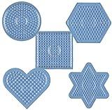 Midi Stiftplatten-Set Basic klein transparent (5 x Steckplatten)