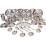 Parasnath A-One Stainless Steel Heavy 51 Pcs Dinner Set In 22 Gage (Made From Jindal Sheet)