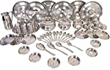 A-One Stainless Steel Heavy 51 Pcs Dinner Set in 22 Gage (Made From Jindal Sheet)