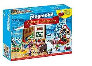 PLAYMOBIL Calendario de Adviento-9264 Taller de Navidad, Multicolor (9264)