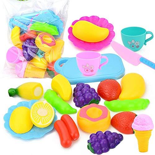 Naisicatar Küche Spielzeug Lustige Schneiden Obst Gemüse Pretend Lebensmittel Spielset für Kinder Mädchen Jungen Ausbildung Frühe Alter Basic Skills Entwicklung Amusant Spielzeug