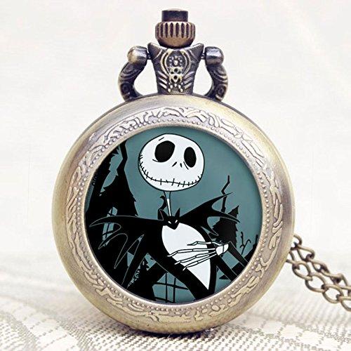 Der Alptraum Vor Weihnachten Jack Halloween Nacht Thema Bronze Pocket Watch (Dies Ist Halloween-alptraum)