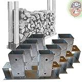 4x Holzstapelhalter Metall für Brennholz-Regal Stapelhilfe Kaminholz von Gartenpirat®