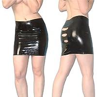 Falda Látex Minifalda con rajas en talla S, goma