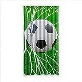 DOUBEE Custom Fussball Soccer Modern Und Vorhänge Polyester mit Ösen 127cm x 244cm (1 Stück)