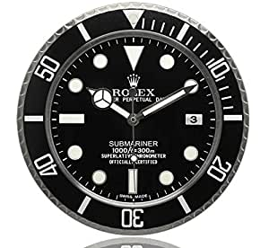 Haoyun rolex submariner horloge murale lumineuse amazon for Horloge lumineuse