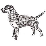 Gartenfigur Labrador Buxus-Figur Moos Efeu