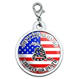 Graphics and More Gadsden Don 't tread on me USA Flagge–Tea Party groß verchromtem Metall Pet Dog Cat ID Tag