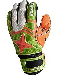 Derbystar Protect AR Advance Gants de gardien de but Protection pour les doigts Vert/orange (Blanc/Vert/Orange)
