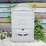 Liuyu · Lebendes Haus Landhaus-Briefkasten-Retro- Briefkasten mit Verschluss-kreativem ländlichem im Freien an der Wand befestigtem regendichtem Postkasten (Farbe : Weiß)