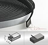 CTA Dichtungen 10m Rolle Moosgummi 10x5 mm EPDM schwarz 1C16-15