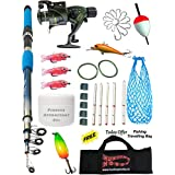 Fishing Spinning Rod,Reel,Accessories Complete Kit (7 Feet)