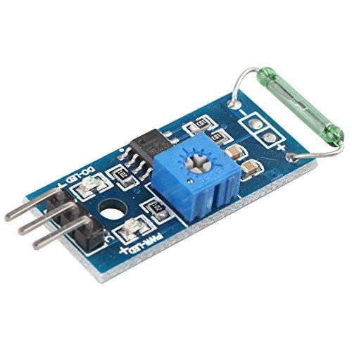 HALJIA - Reed-Sensor-Modul, Magnetron-Modul, Reed-Schalter, Magswitch für Arduino Reg-sensor