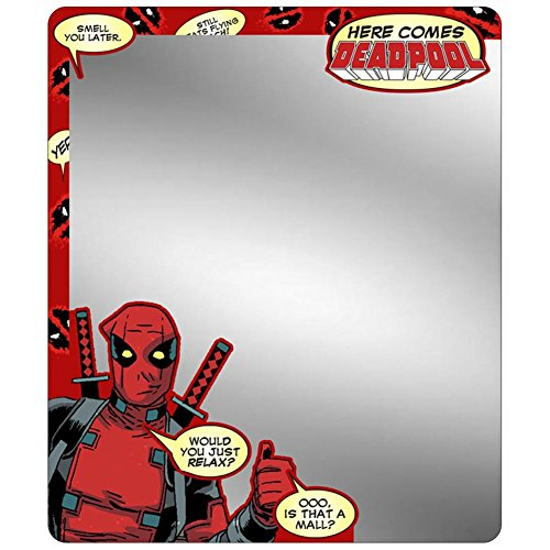 (Buckle Down Deadpool – Thumbs up Schrank Spiegel Neuheit 15,2 x 17,8 cm)