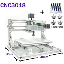 TopDirect DIY CNC Router Engraving Machine, Working Area 300*180*45 mm, PCB CNC Milling Machine Wood Metal Carving Mini Engraving Router PVC