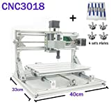 TopDirect DIY CNC Router Engraving Machine, Working Area: 300*180*45mm, 3 Axis Mini Wood PCB PVC Milling Machine Metal Wood Engraving Carving Machine