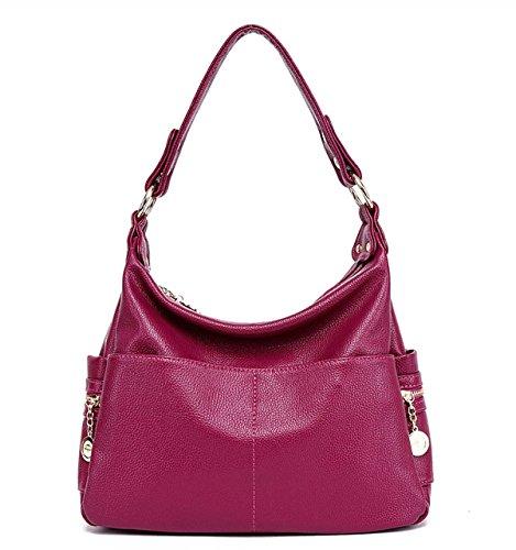WU Zhi Frauen Mittleren Alters Handtaschen Schulter Diagonal-Paket Purple