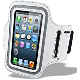 iPhone 6s Armband, Phone Mates Sport White Armband for iPhone 6 / iPhone 6s (4.7 inch) with Headphone and Key Slots