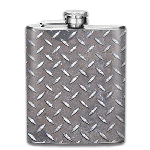 Diamond Plate 7 Oz Printed Stainless Steel Hip Flask For Drinking Liquor E.g. Whiskey, Rum, Scotch, Vodka Rust Great Gift Diamond Plate-shirt
