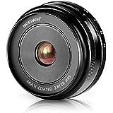 Neewer NW-E-28-2.8 28mm f/2.8 Lentille Fixe Manuelle Focus Prime pour SONY E-Monture Numérique Caméras, tel que SONY NEX3, 3N, 5, 5T, 5R, 6, 7, A5000, A5100, A6000, A6100 et A6300