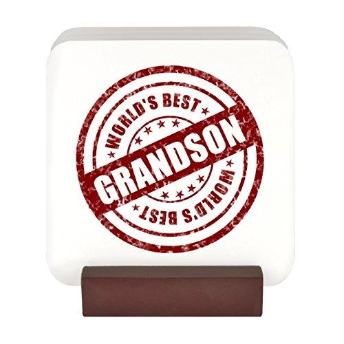 World 's Best Grandson Dichtung Design 4Untersetzer-Set mit Ständer