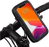 Antber Soporte movil Moto Funda Impermeable Universal Valida telefonos de hasta 6.5' sujecion irrompible con Enganche Extra al Manillar Soporte movil Bici Soporte movil para Moto
