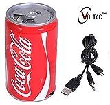 VOLTAC` ™ Soft Drink Pepsi Cola Beer Can Shape Mp3 Audio Songs Fm Radio Multimedia Speaker Pattern #173008
