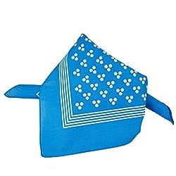 Blue With White 3-Dot & Stripes Bandana Neckerchief by Ties Planet