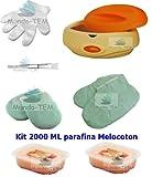 Mundo-TEM  Calentador Fundidor de parafina + Kit Completo, 2000 ML Parafina Melocoton, Regalo:...