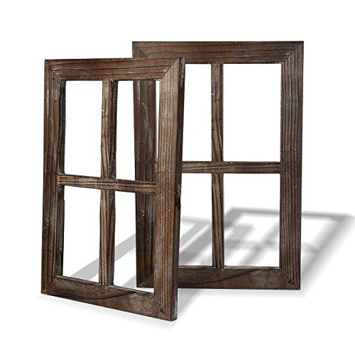 fensterrahmen deko fenster BESTOOL Old Rustic Window Barnwood Frames-Deko für Haus oder Outdoor, nicht für Bilder (2, 11X15.8 Zoll)