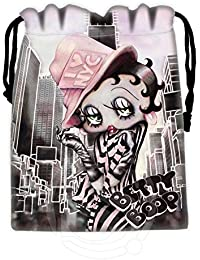 Shopystore Red New Hot Betty Boop Drawstring Bags Custom Storage Bags Storage Printed Receive Bag