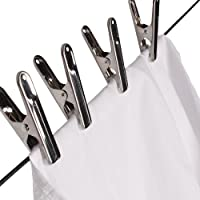 BuyElegant Prime - 80 Laundry Pegs made of Stainless Steel Tight hold, Soft grip with plastic pads to avoid stains. Laundry pegs for garden, balcony long lasting, bargain sale