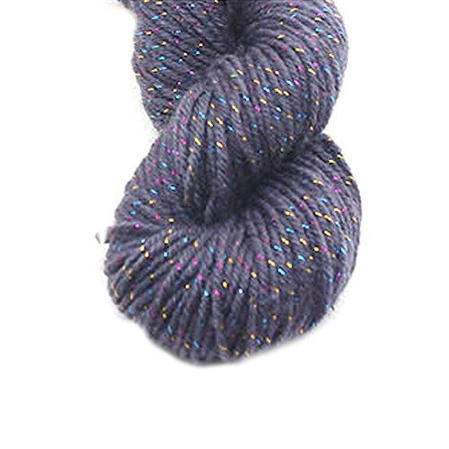 Luxus Acryl Strickwolle Garn für handgemachte Schal Pullover Garn mit Gold Line Grau