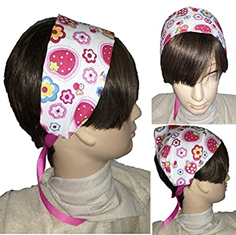 HAIR RIBBON. KERCHIEF. DIADEMADE SCREEN. FRESH. Headband 8 cm. Pañoleta 18 cm. Cotton Washable. Ideal for summer and the beach.