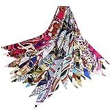VBIGER Moda Cinta de Seda Multifuncional Bufanda de Cuello Diademas Corbatas para Mujer Niña,12 Piezas (B-Estilo)
