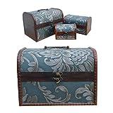 Nuevo-juego-de-3-envejecido-Vintage-cofre-de-madera-joyas-caja-de-regalo-de-almacenamiento-de-accesorios-us031