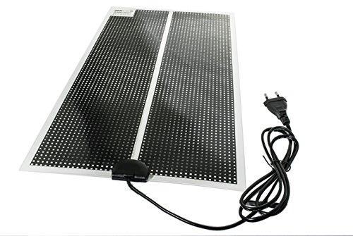 TropicShop Heizmatte BZW. Wärmematte ultraflache fürs Terrarium - mit 150cm Stromzuleitung mit EU Stecker 230V (35w mit 65x28cm)