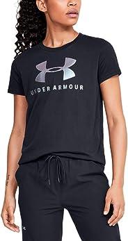 Under Armour GRAPHIC SPORTSTYLE CLASSIC CREW-BLK Tişört Kadın