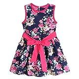 Vovotrade Vestito capretti delle ragazze di fiore principessa partito floreale (110, Blu)