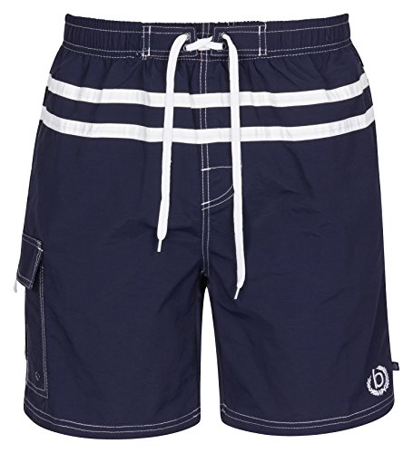 bugatti® - marineblaue Herren Badeshort, Größe XXXL
