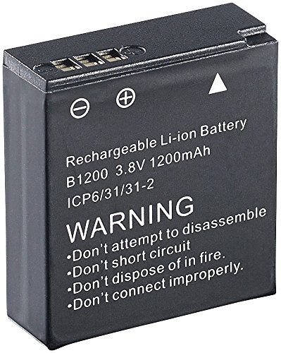 Somikon Zubehör zu Actionkamera: Lithium-Ionen-Akku für Action-Cam DV-850.WiFi, 3,7 V, 1200 mAh (Waterproof Sports DVRs) (Mini Dv Akku)